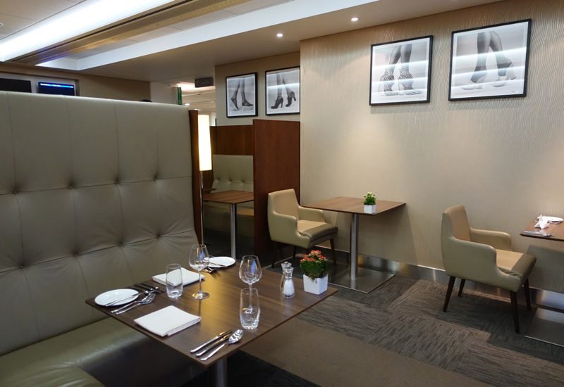 British Airways First Class Lounge Review LHR T3 - Pre-Flight Dining Seating