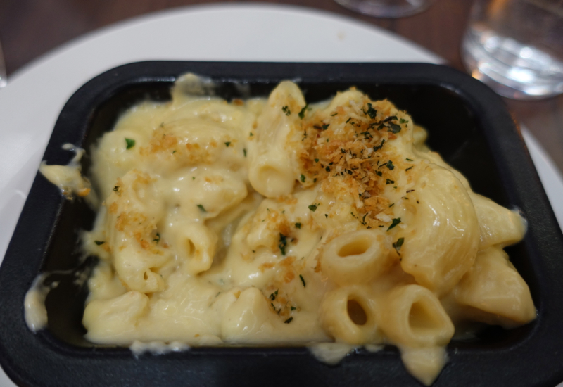 Macaroni Cheese, British Airways First Class Lounge Review of Pre-Flight Dining