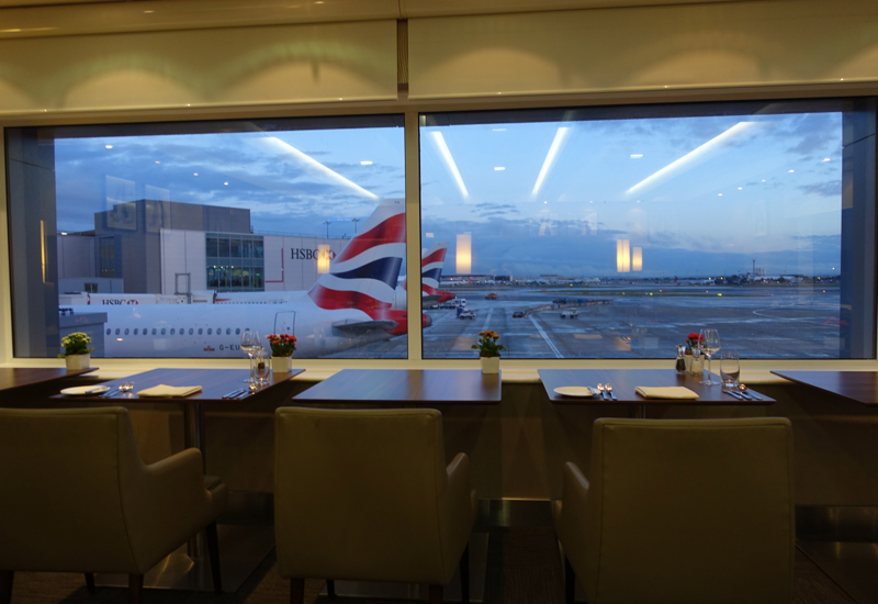 View from Pre-Flight Dining Room, British Airways First Class Lounge LHR T3