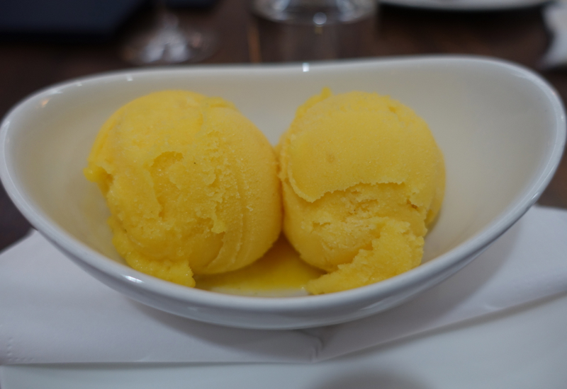 British Airways First Class Lounge Review LHR T3 - Mango Lime Sorbet