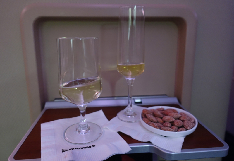 Qantas First Class A380 Review: Champagne, Wine and Almonds