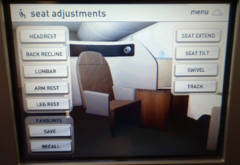 Qantas First Class A380 Review-Seat Controls