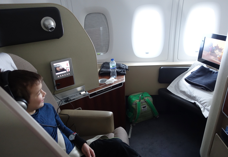 Qantas First Class A380 Review: Watching a Movie