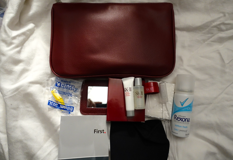 Qantas First Class A380 Review - Women's SK-II Amenity Kit