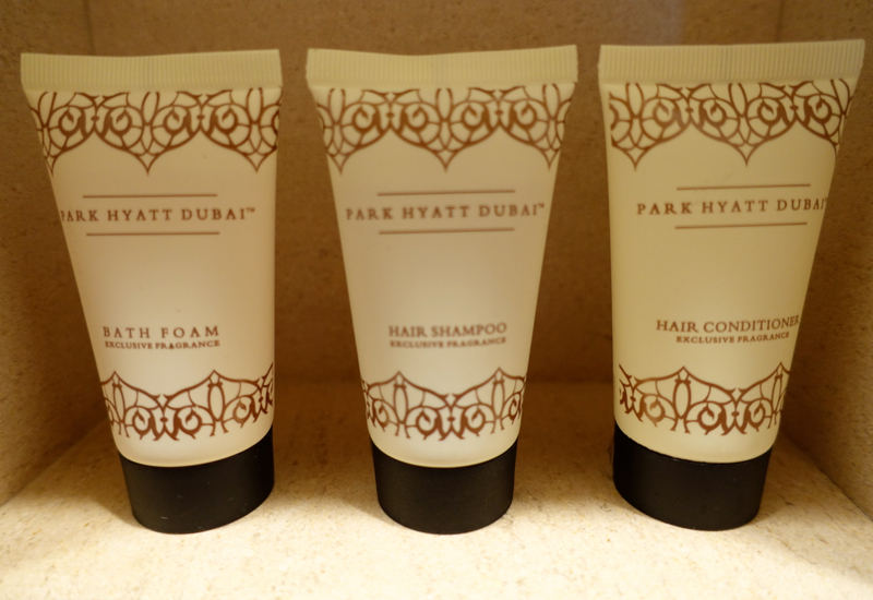 Park Hyatt Dubai Review - Hotel Branded Bath Products