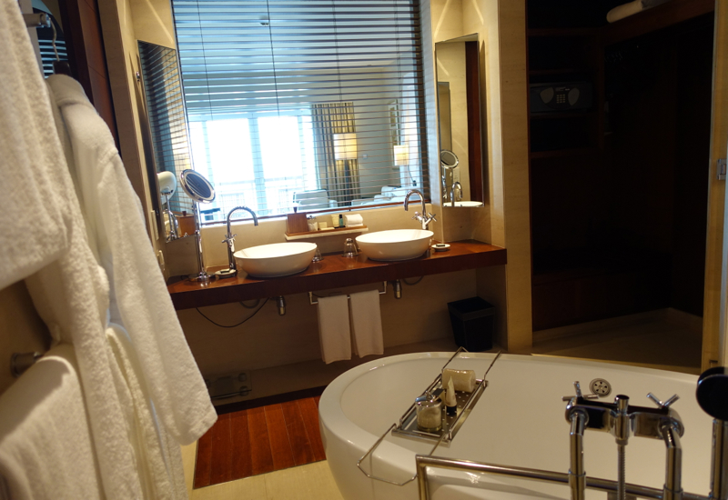 Park Hyatt Dubai Review - Bathroom with Dual Vanities