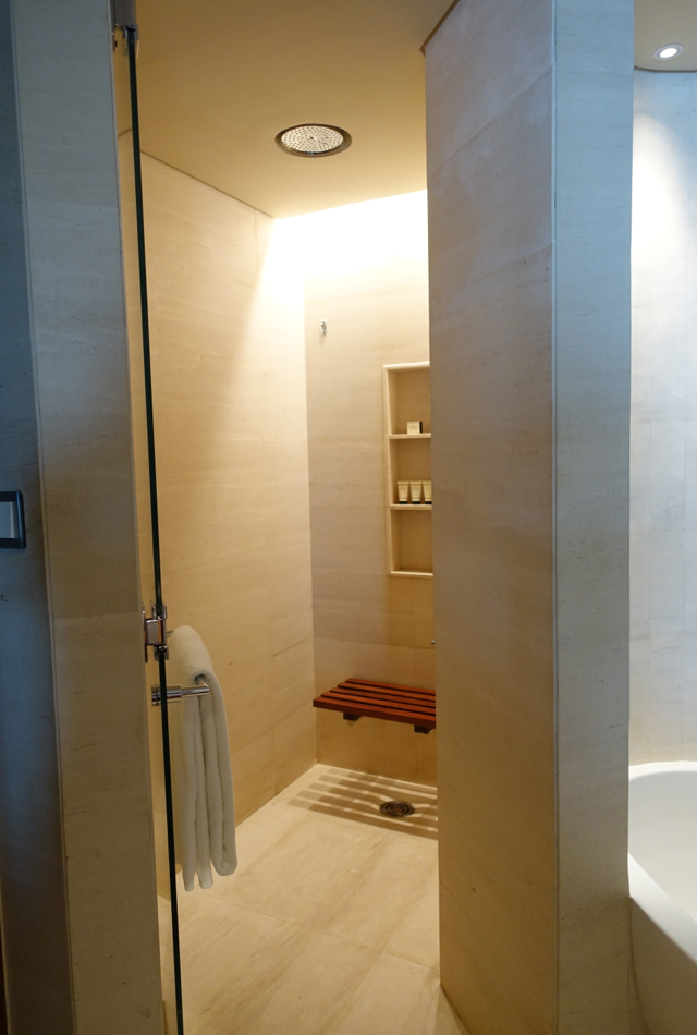 Park Hyatt Dubai Review - Walk-in Rain Shower