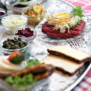 Traditional Danish food at Grøften, CopenhagenT