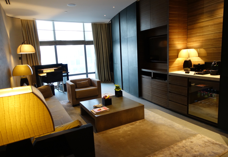 Armani Premiere Suite Living Room