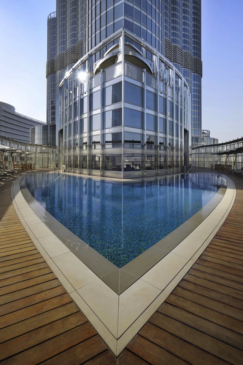 Armani Hotel Dubai Outdoor Pool at the Burj Khalifa