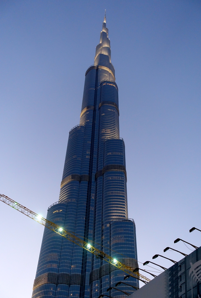View of Burj Khalifa from Dubai Fountain