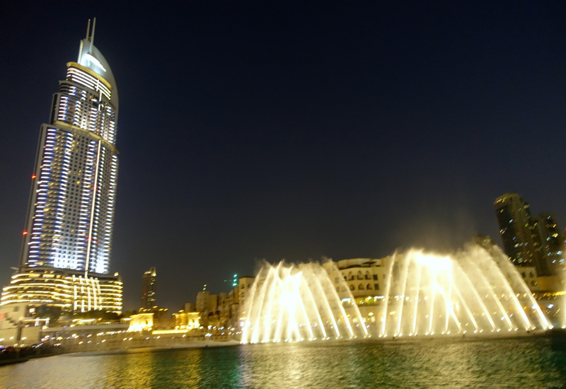 Dubai Fountain and The Address Downtown Dubai