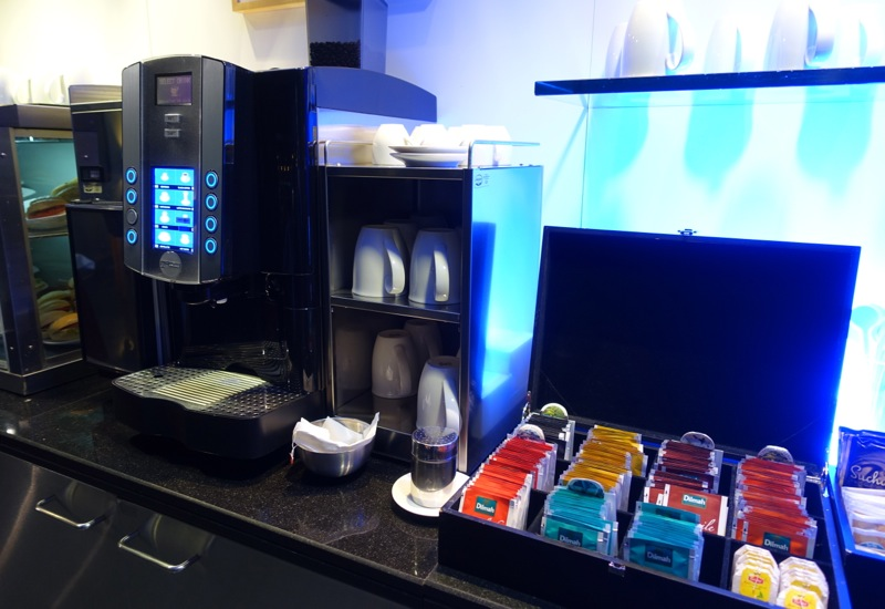 Coffee Machine and Dilmah Teas, British Airways Galleries Lounge, Dubai