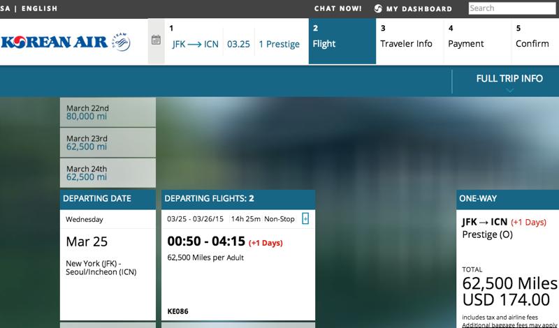How to Book Korean Air SkyPass Awards Online