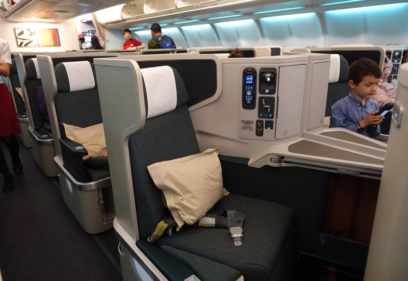 Cathay Pacific Business Class Review A330 - Business Class Cabin