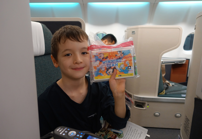 Cathay Pacific Business Class Review A330 - Children's Disney Welcome Amenity