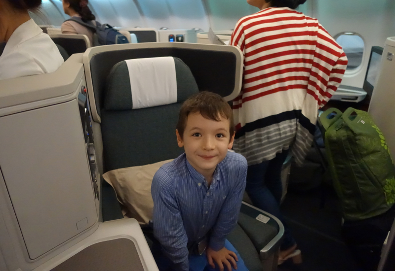 Cathay Pacific Business Class Review A3380 - Companion Seat