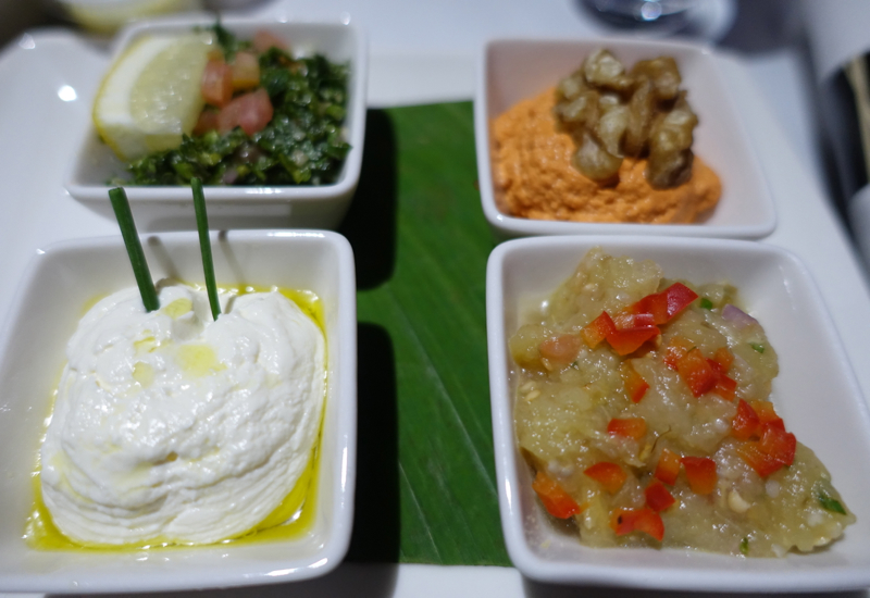 Cathay Pacific Business Class Review A330-Mezze Dips