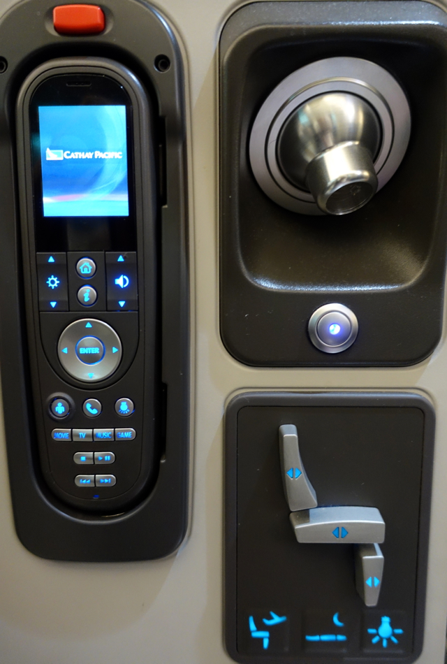 Cathay Pacific Business Class Review A330 - IFE and Seat Controls