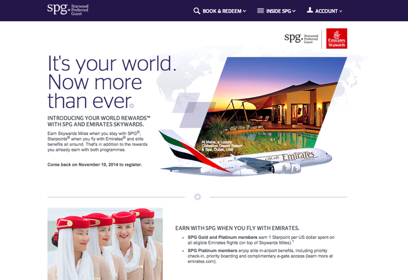 SPG and Emirates Your World Rewards and FAQ