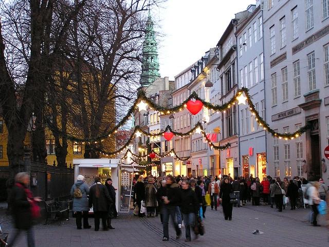 The Strøget at Christmas time, Copenhagen