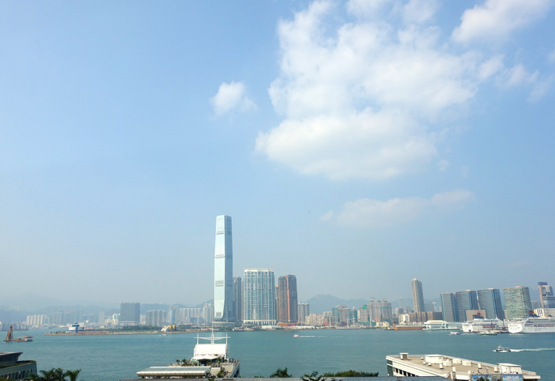 View from Lung King Heen of Victoria Harbour, Hong Kong