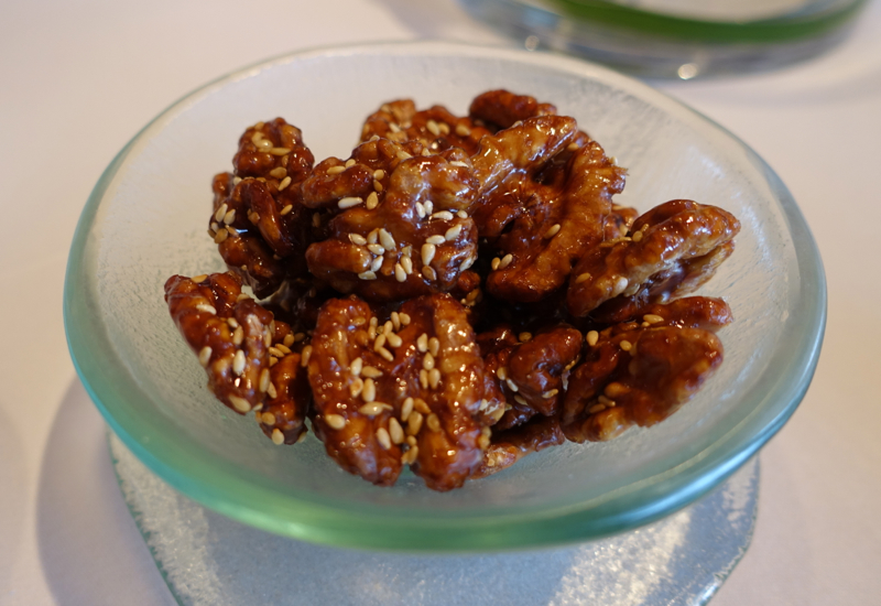 Candied Walnuts, Lung King Heen at Four Seasons Hong Kong