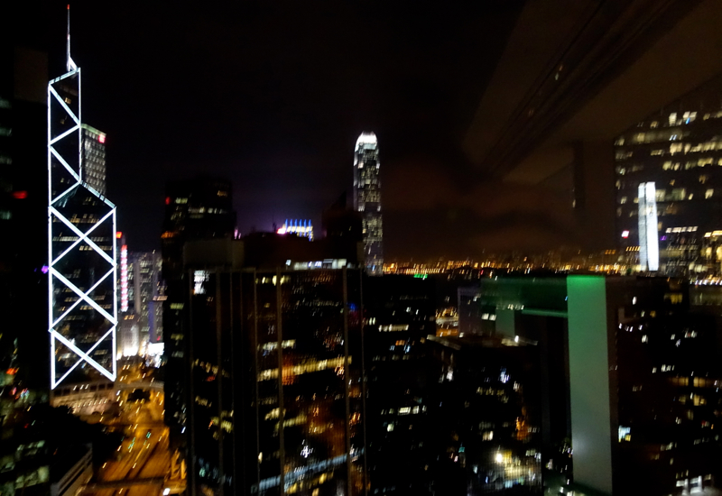 Night View from Upper Suite, The Upper House Hong Kong