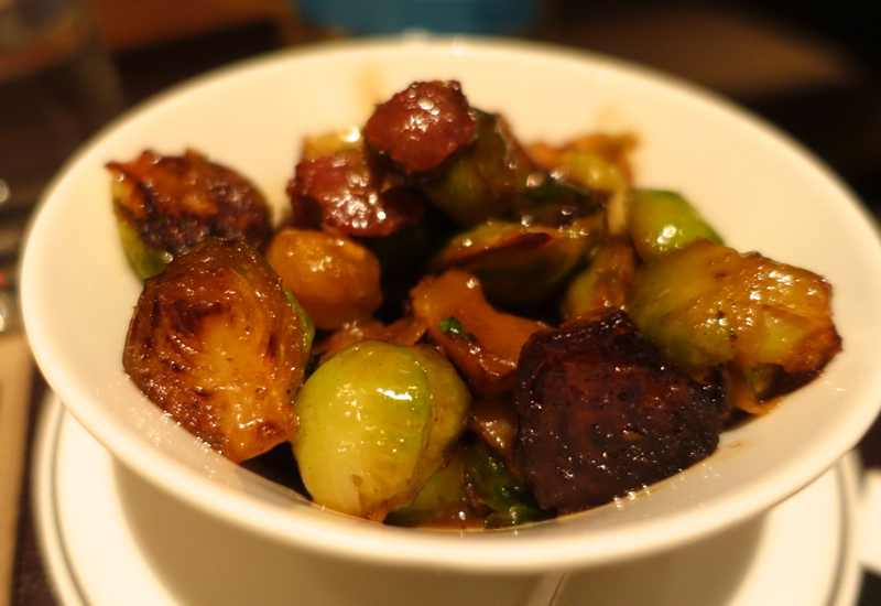 Cafe Gray Deluxe - Roasted Brussels Sprouts with Bacon and Chestnut
