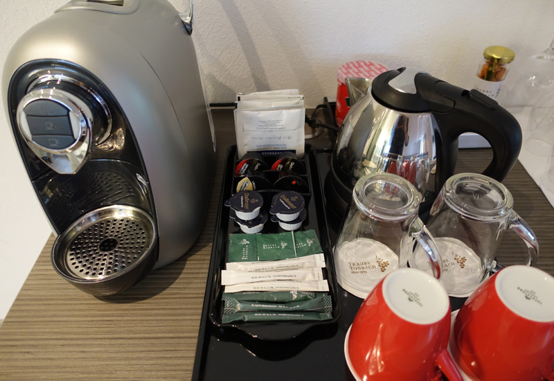 Espresso Machine and Tea Kettle, Hotel Traube Tonbach