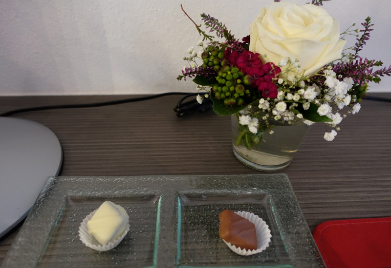 Welcome Chocolates and Flower Bouquet, Hotel Traube Tonbach