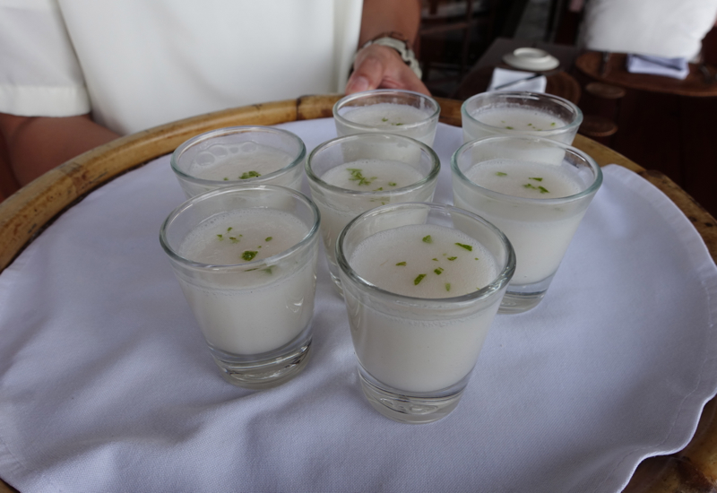 Coconut Lime Welcome Drink, Amanpulo