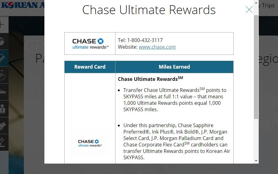 Korean Air Skypass To Return As Chase Ultimate Rewards