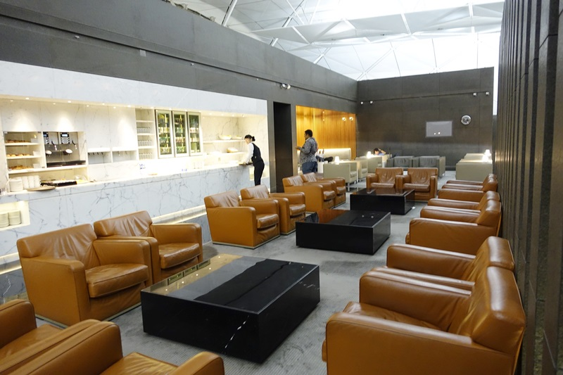 Cathay Pacific The Wing Business Class Lounge Seating