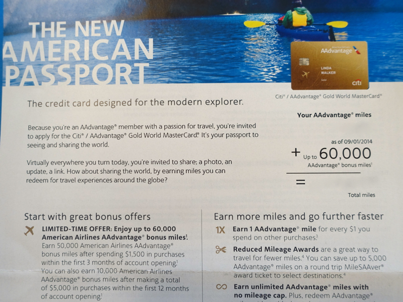 60K Citi AAdvantage Gold Bonus Offer-Targeted
