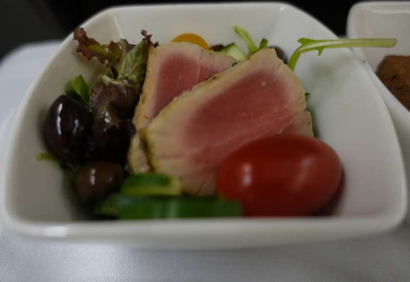 Review-Cathay Pacific New Regional Business Class-Salad