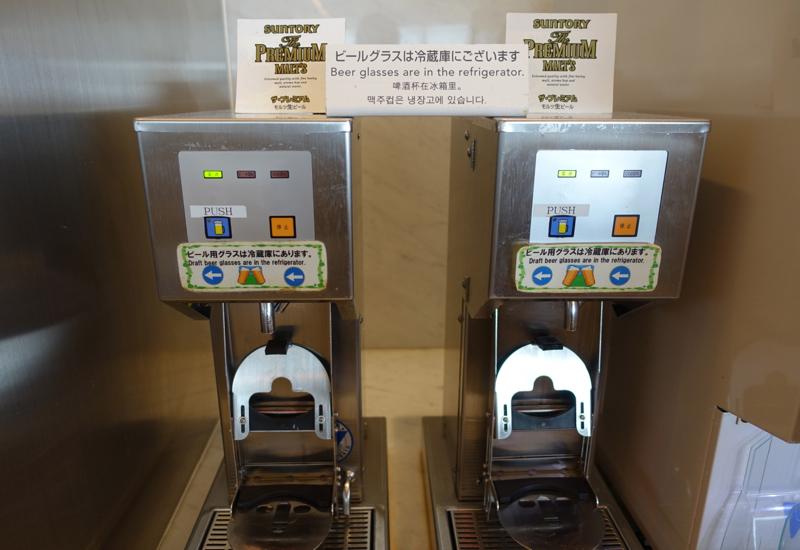 Suntory Beer on Tap, JAL Sakura Lounge, Tokyo Narita