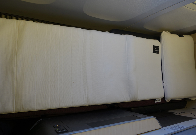 JAL Sky Suite Business Class Review-Airweave Mattress Pad and Pillow
