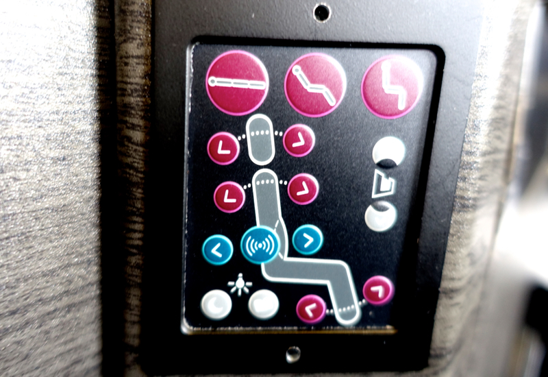 Seat Controls, JAL Sky Suite Business Class