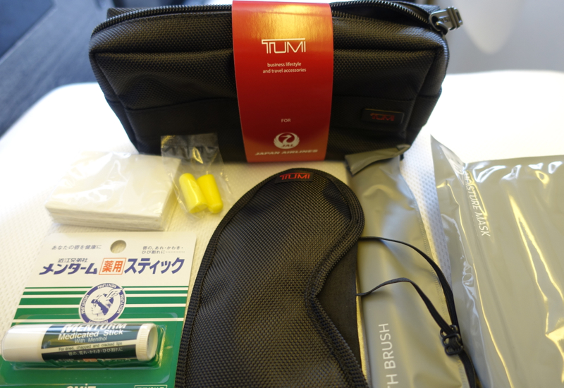 TUMI Amenity Kit, JAL Sky Suite Business Class