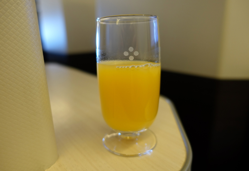 Pre-Flight Drink, JAL Business Class