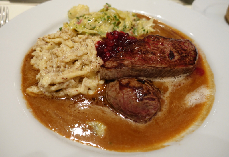 What to Eat in Germany - Venison with Nut Spatzle