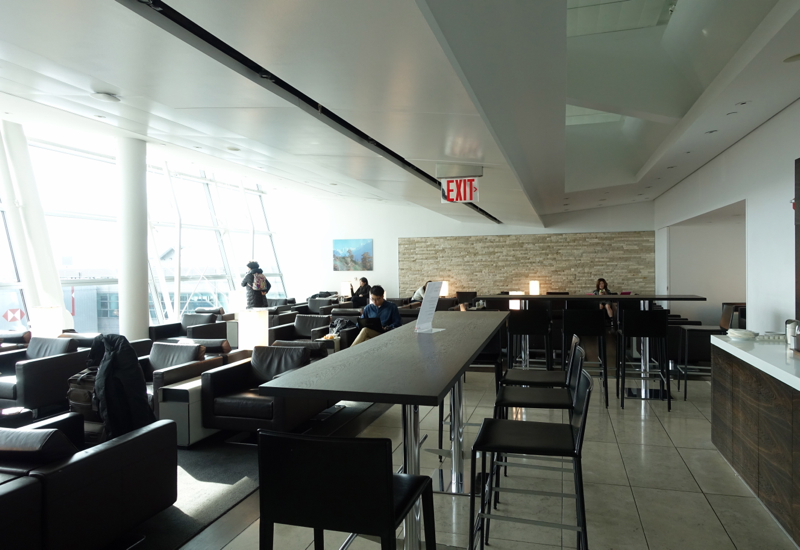 Seating and View of Tarmac, SWISS Lounge at JFK Terminal 4