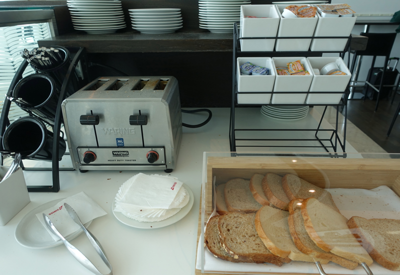 Bread, Toaster and Jam, SWISS Lounge at JFK
