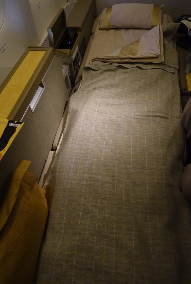 Asiana First Class Bed After Turndown Service