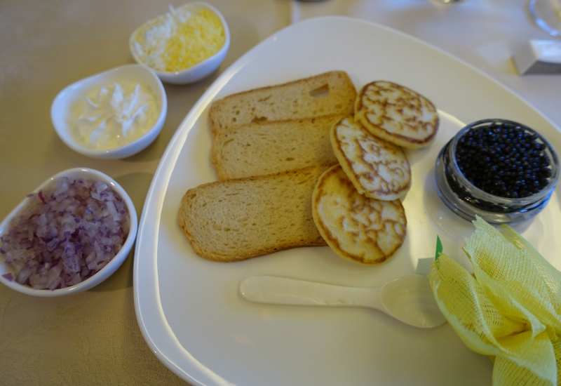 Asiana First Class Caviar Service