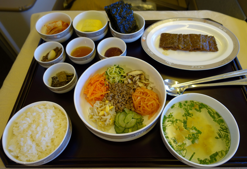 Review-Asiana First Class Food-Bibimbap and Bulgalbi