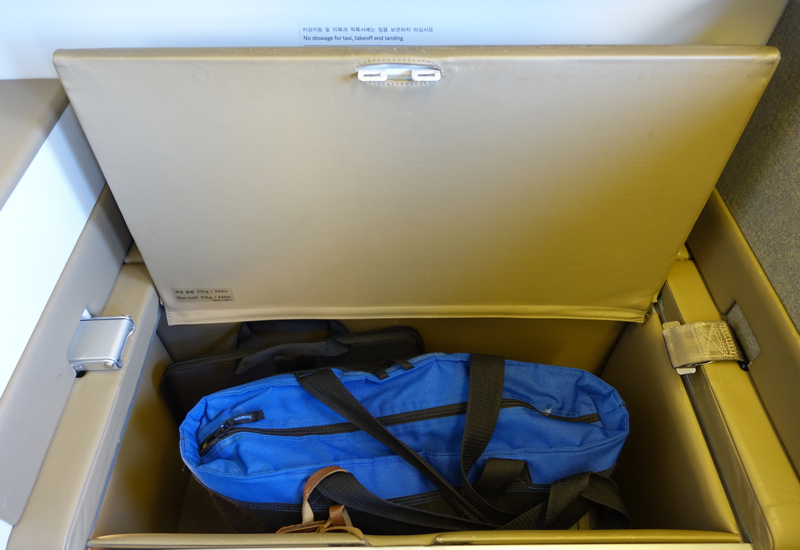 Review-Asiana First Class Suites-Ottoman Storage Space