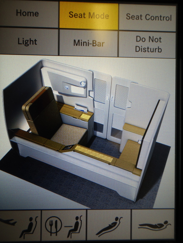 Asiana First Class Review - Seat Controls