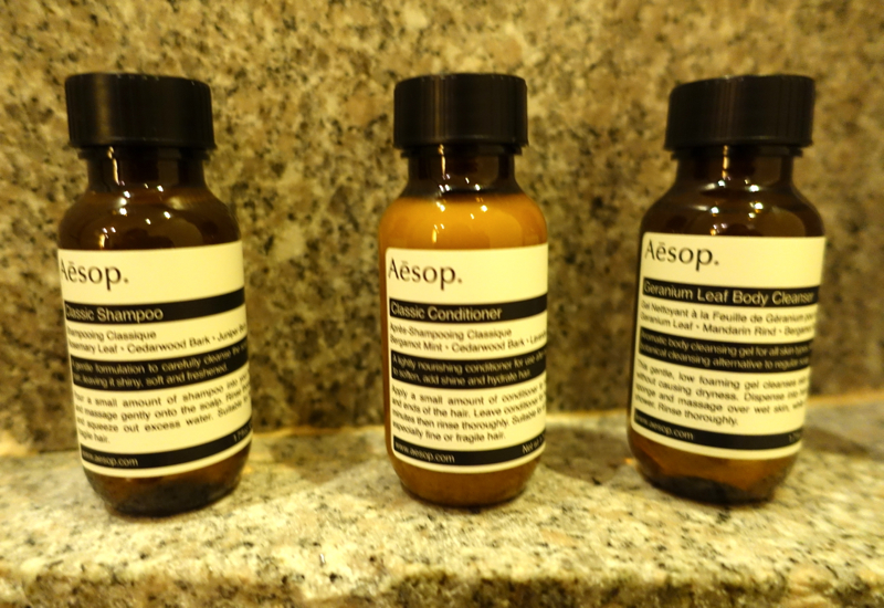 Review-Park Hyatt Seoul - Aesop Bath Products